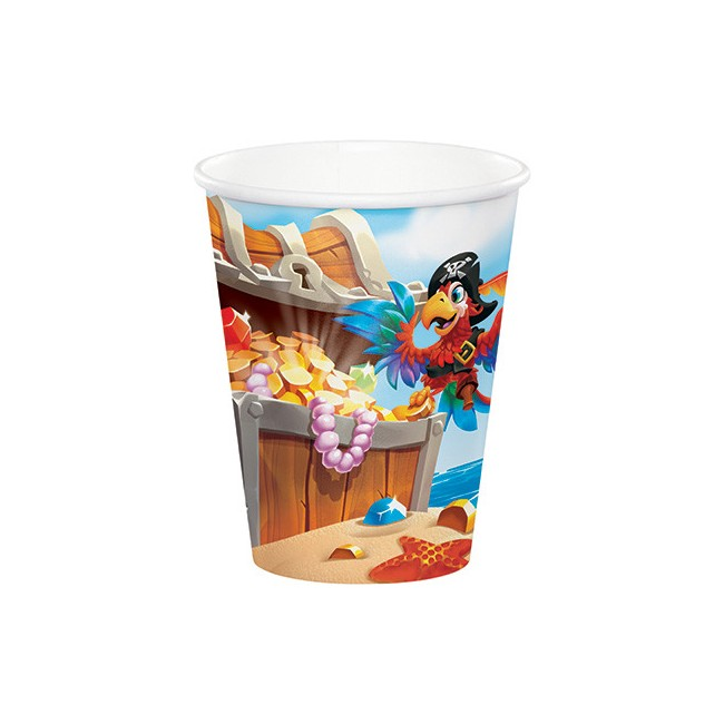 Bicchiere carta 266 ml Pirati