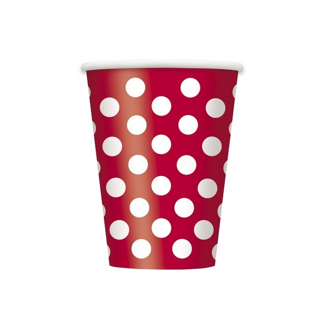 Bicchiere 355 ml Rosso Pois...