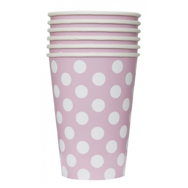 Bicchiere 355 ml Rosa Pois...