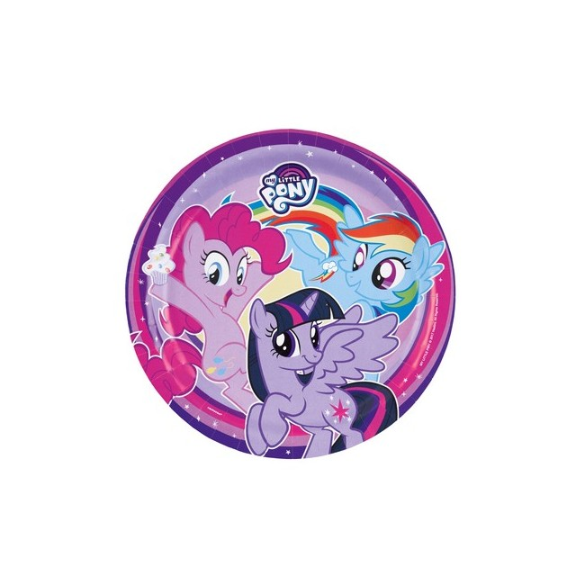 8 piatti 23 cm My Little Pony