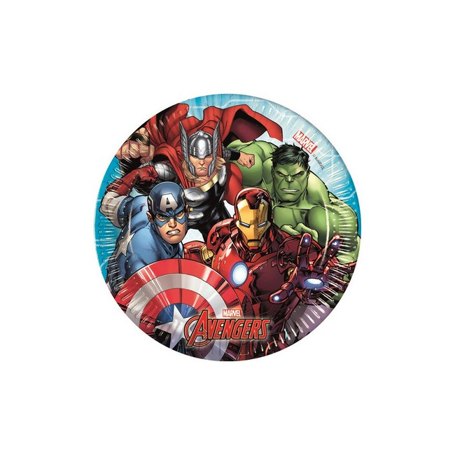 Piatto 20 cm Avengers Mighty