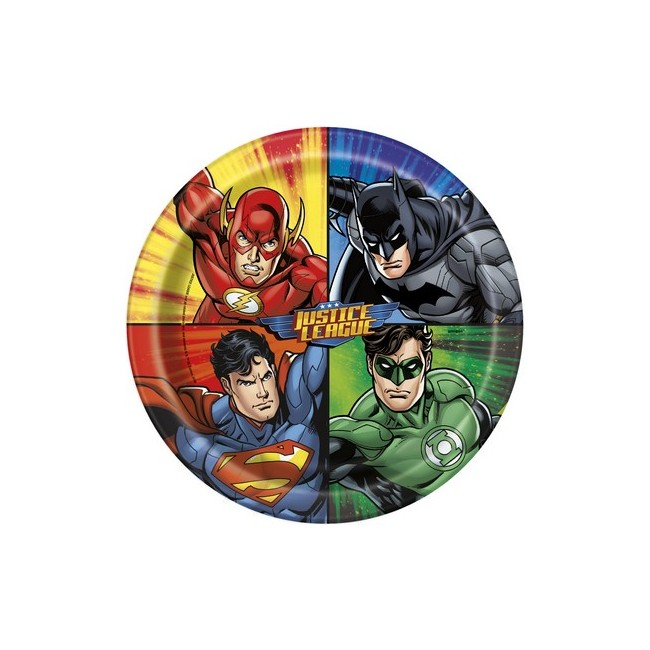 Piatto 23 cm Justice League