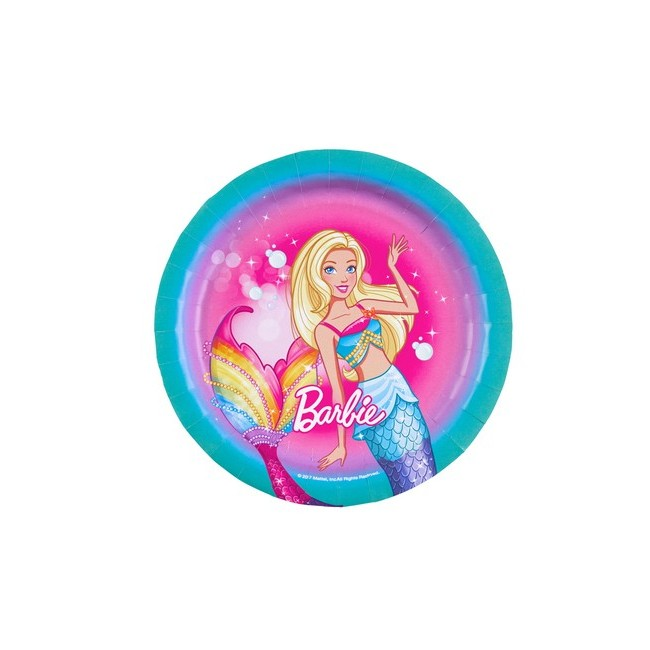 Piatto 18 cm Barbie Dreamtopia
