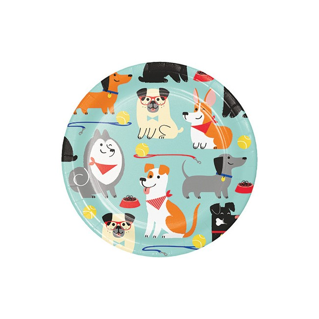 Piatto 18 cm Cani - Dog Party